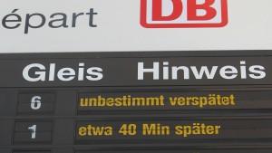Deutsche Bahn wird pünktlicher