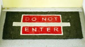 Klare Ansage - doch Mieter müssen den Eigentümern unter bestimmten Bedingungen den Zutritt gewähren.