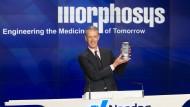 Dr. Simon E. Moroney, Vorstandsvorsitzender von MorphoSys, an der Nasdaq.