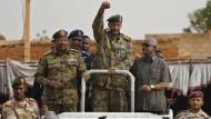 Die Spitze des sudanesischen Militärrats im Juni