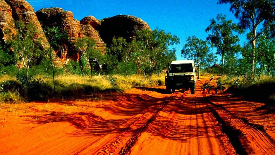 Wildromantisch sind Australiens Straßen. Auch für Hunde.