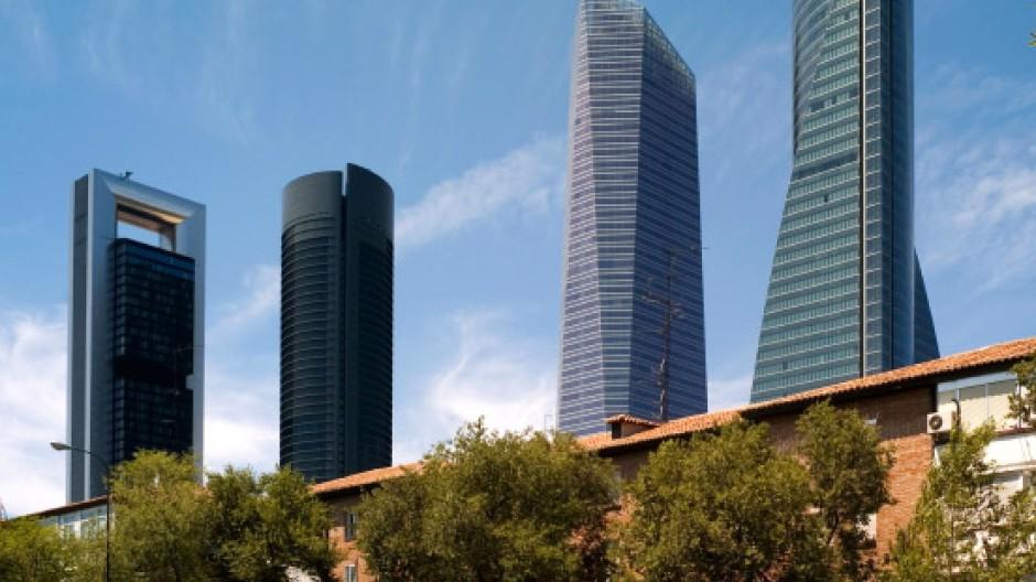Geschäftsviertel Cuatro Torres in Madrid