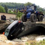 Starkregen: Wenn der Bach über die Ufer tritt, hinterlässt er Schäden.