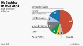 Infografik / Die Gewichte  im MSCI World