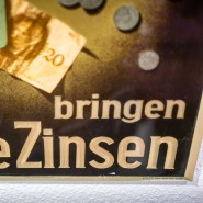 Ha, ha, ha: Historisches Werbeplakat der Commerzbank