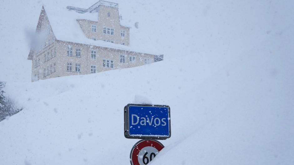 Verschneites Davos