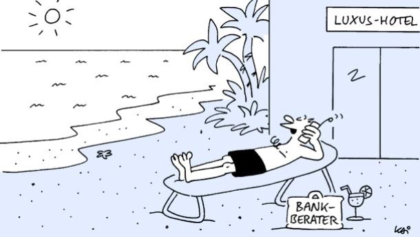 Karikatur / Kai / Bankberater