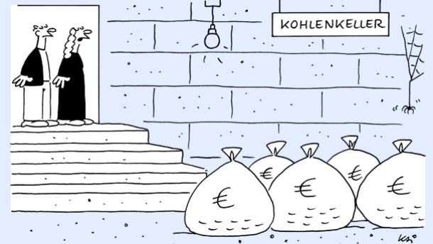 Karikatur / Kai / Kohlenkeller