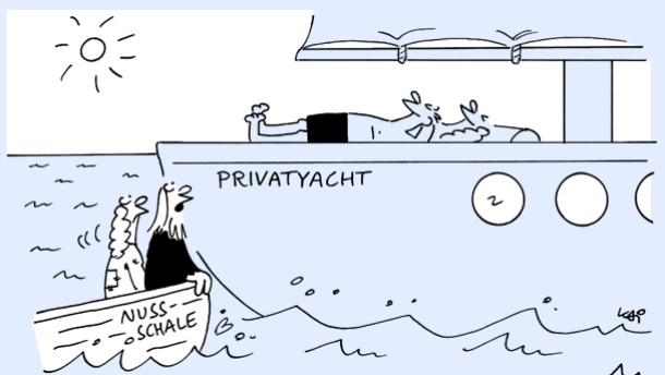 Karikatur / Kai / Privatyacht