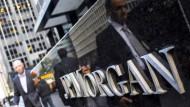 Auch die Aktien von JP Morgan sind am Mittwoch gefragt.