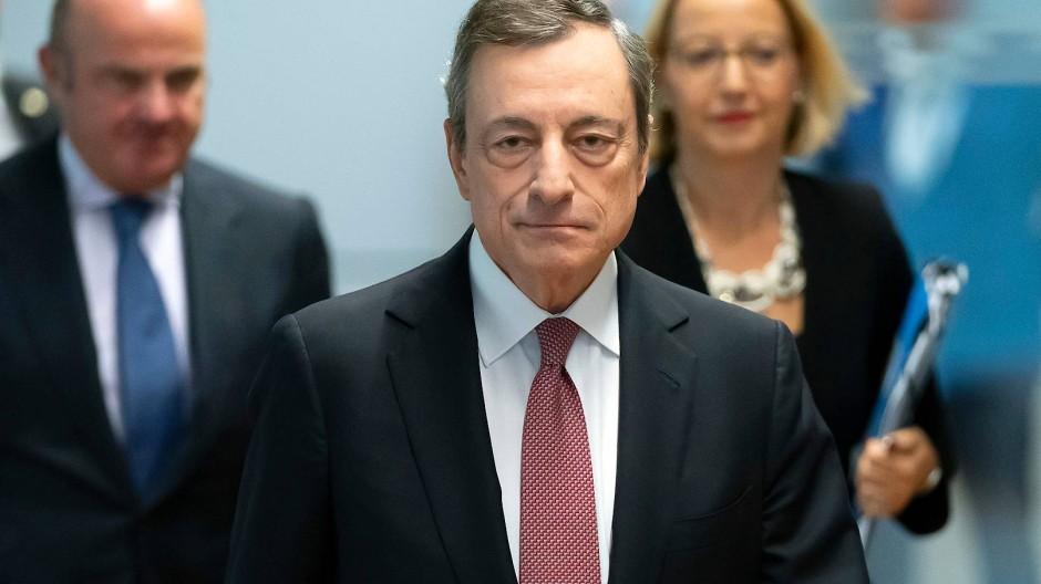 EZB-Präsident Mario Draghi nach dem Zinsentscheid.