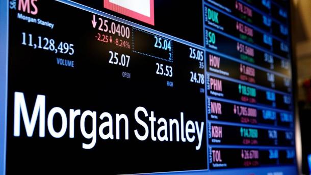 Morgan Stanley spürt die Börsenturbulenzen