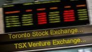 Die Börse in Toronto hat auf die jüngsten diplomatischen Spannungen zwischen Kanada und Saudi-Arabien mit Verlusten reagiert.