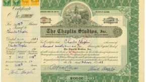 Versteigerung Charlie-Chaplin-Aktie