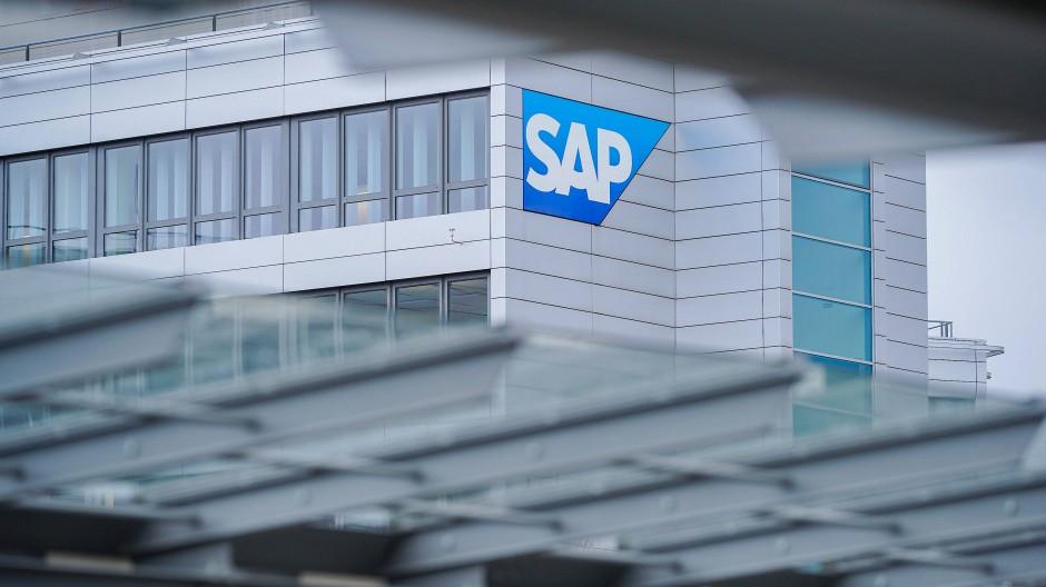 Markenzeichen von SAP an der Konzernzentrale in Walldorf
