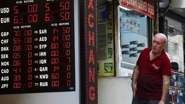 Türkische Lira Gerät Wieder Unter Druck