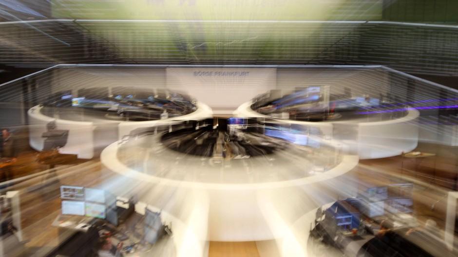 Die Börse erzittert unter einbrechenden Kursen.