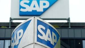 Aktienkurs von SAP fällt um 18 Prozent