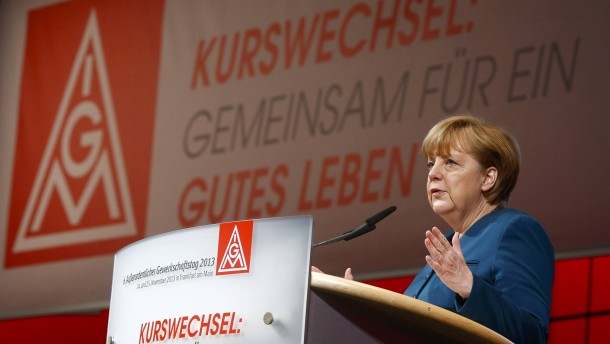Merkel bei der IG Metall