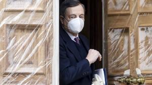 Mario Draghi lässt Italiens Bankaktienkurse steigen