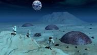Vision vom Leben auf dem Mond