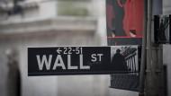 Die Wall Street in New York: Sitz der amerikanischen Börse