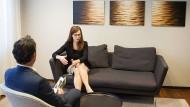 Lounge im Immobiliencenter einer Stuttgarter Commerzbank-Filiale