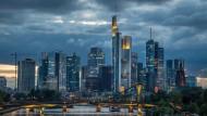 Die Bankenskyline von Frankfurt