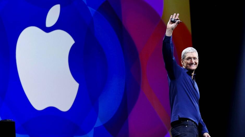 Apple-Chef Tim Cook steht einem Weltkonzern vor, der heute nicht nur an der Börse das Maß aller Dinge ist.