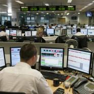 Ein Börsenhändler am Finanzplatz London