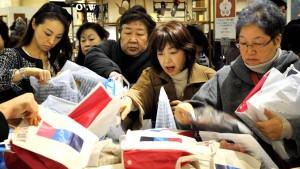 Die Japaner kaufen kräftig ein