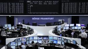 Aktienkurse ziehen nach Kursrutsch wieder kräftig an