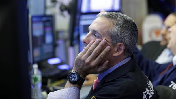 Turbulenter Tag an der Wall Street