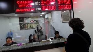 Neues Rekordtief der türkischen Lira