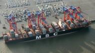 """Die """"MSC Oscar"""" ist das derzeit größte Containerschiff der Welt."""