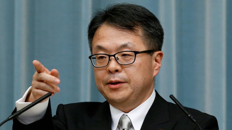 Stellt sich hinter Toyota: Der japanische Wirtschaftsminister Hiroshige Seko.