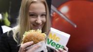 Sieht aus wie ein Ham-Burger, ist aber ein Veg-Burger.
