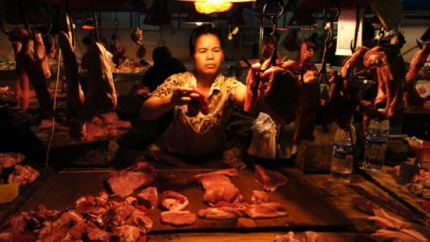 Chinas Inflationsproblem drückt Kurse