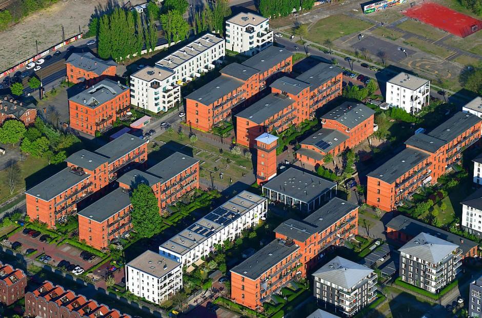 Recht locker: Wohngebiet in der Rummelsburger Bucht in Berlin