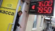 Die russische Währung wandelte sich in den ersten drei Monaten des Jahres vom Klassenletzten zum Primus unter den weltweiten Devisen