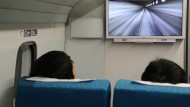 Derzeit noch im Testbetrieb: Fahrt mit der japanischen Magnetschwebebahn