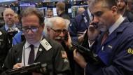 Die Händler an der New Yorker Börse haben zu tun.