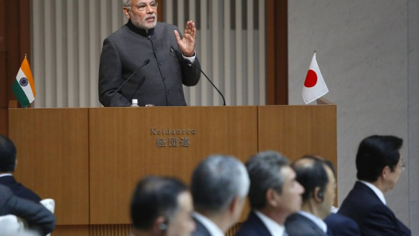 Japan will Investitionen in Indien verdoppeln