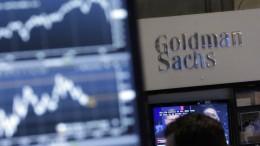 Goldman Sachs verdient glänzend an unruhigen Aktienmärkten