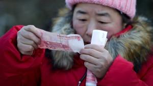 Chinas Renminbi tut sich schwer