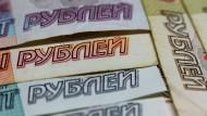 Immer weniger wert: Der russische Rubel.