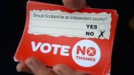 Schotten stimmen gegen Unabhängigkeit