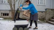In Zukunft könnten Roboter in der Stadt das Essen liefern.