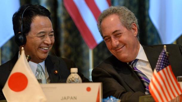 Amerika und Japan ringen um Freihandel