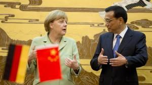 Merkel trifft sich mit Chinas Ministerpräsident Li Keqiang